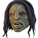 Orc Mask, green, with hair
